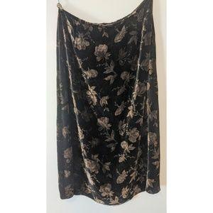 Talbot's Velvet Skirt
